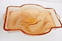 Indiana Glass Bird of Paradise Tiara Exclusives Empress Vanity Tray