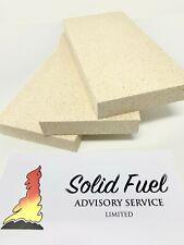CUT TO SIZE- VERMICULITE FIRE BRICK(s) Multi Fuel Woodburner wood burner stove