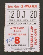 1971 Stanley Cup Finals Game 2 Ticket Stub Chicago Black Hawks vs Canadiens 5/6