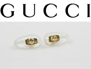 Replacement Screw-in Nose Pads for GUCCI Eyeglasses Sunglasses W/ Screws Gold