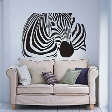 Zebra Wall Decal Inspired Animal Africa Vinyl Art Removable Home Bedrroom Decor