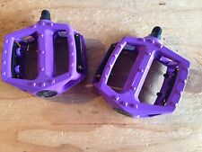 """Bicycle Purple Pedals 1/2"""" Spindle, Alloy"""