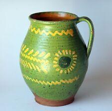 Antique Vintage Provence Alsace Country Confit Pot Jar Jug French Pottery Vase
