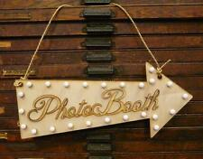 Wooden Photo Booth Wedding Engagement Sign Cafe Lighted Retro Arrow