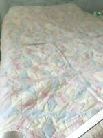"Vtg 1940's Cotton Quilt Cutter Crafter Or Repair Seam 81"" Shabby Chic Primitive"