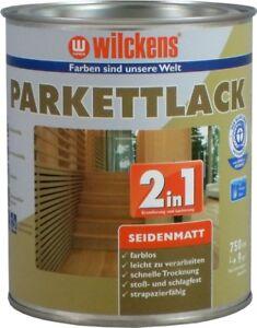 2,5L Wilckens Parkettlack 2in1 Klarlack Holzfarbe Seidenmatt Grundierung Kork