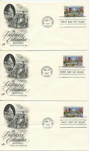 1991 FDC ,DISTRICT OF COLUMBIA, CANCELLATION ERRORS
