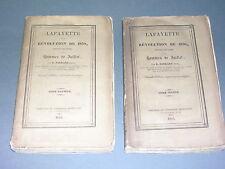 Lafayette B. Sarrans Lafayette et la révolution de 1830 2 vol. complet 1830