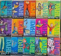 Roald Dahl Reading Collection Witches BFG Matilda Mr Fox 15 Books Box Set VGC