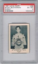 1952 Laval Dairy Subset Hockey Card Chicoutimi #29 Bucky Buchannan Graded PSA 6