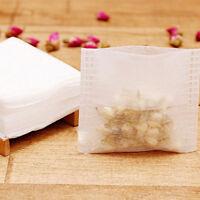 100Pcs Empty Tea Bags Corn Fiber Fold Close Heat Seal Filter Paper Tea Infuse S*