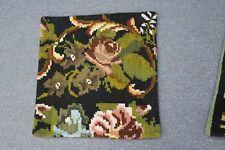 "Turkish Anatolian Kilim Pillow Cushion Hand Woven Wool 18"" x 18"" Zipper Back 4"