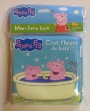 LIVRE de bain PEPPA PIG c'est l'heure du bain ! BEBE enfant