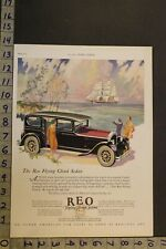 1927 REO FLYING CLOUD SEDAN CLIPPER SHIP NAUTICAL LANSING MOTOR CAR AUTO AD UB04