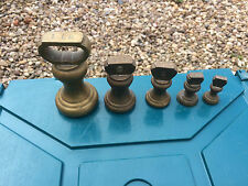 Set Of  Vintage Imperial Brass Bell Weights 1lb-1oz Balance  Scales