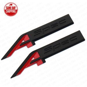 For Acura Aspec A Spec Fender Marker Badge Logo Sport Emblem Nameplate Black