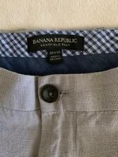 "BANANA REPUBLIC Kentfield Pant Gray Mini Check Mens Pants Size 36 X 29"""