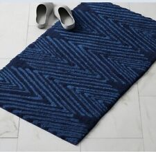 "Summit Company Cotton Bath Rug - Navy 24"" X 40"""