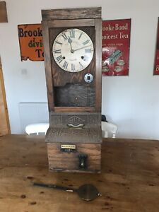Antique blick Clocking In Machine From Ley's Manueable castings Derby