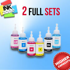 2 Full Colour Sets of High Yield non-OEM Ink for EPSON Tank System L850 L1800