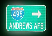 Andrews Air Force Base Interstate 495 route road sign - Maryland, Andrews AFB