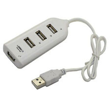 New 4 Ports High Speed USB 2.0 /1.1 Splitter Hub Row for computer PC Mac White