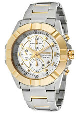 SEIKO LORD MEN CHRONOGRAPH GOLD STEEL 2 TONE 100M WATCH SNDD74 SNDD74P1