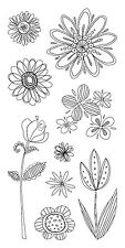 Inkadinkado Clear Stamps - Doodle Flowers, Flower