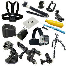 Accessories Kit for Go pro hero4 3 Black SJCAM SJ4000 Xiaoyi Eken H8 H9 H9R W8