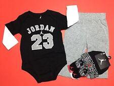 JORDAN BABY Outfit gift set Bodysuit,Pants,Booties & Cap 4-pc GIFT SET Black 0-6
