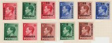 (TIC105) 1937 Morocco &Tangier 11mix ½d to 2½d Edward VIII MH