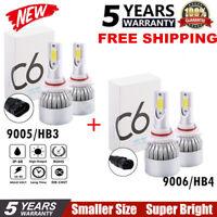 4x Combo 9005 9006 LED Headlight Kit 476000LM Hi-Low Beam HB3 HB4 6000K Blubs JO