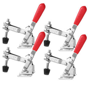 4 Pack 101A Vertical Toggle Clamps 110LB Steel Quick Release Hand Tool