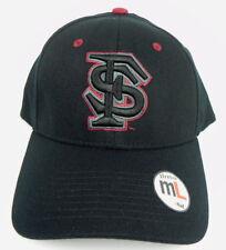 FLORIDA ST. SEMINOLES NCAA BLACK FLEX-FIT CAP HAT ADULT Z-FIT SIZE: M/L NWT!
