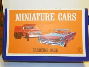 Mattel 1966 Carrying Case blue w/ Dump Truck & GTO on the cover
