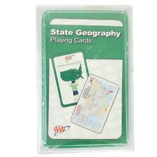 AAA Kids USA State Geography Playing Cards Capitols Birds Flower Tree 1342