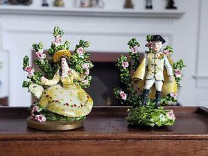 Dollhouse Miniature Artisan Kay Lewis Staffordshire Figurine Set  1:12