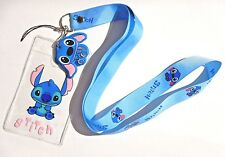 LILO & STITCH KIDS LANYARD blue kawaii cute Disney id name tag key neck strap Y2