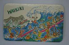 Vintage cartoon by Chuck Loving picture postcard Waikiki Hawaii