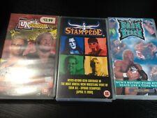WCW - Wrestling VHS Videos Bundle - BASH BEACH / SPRING STAMPEDE / UNCENSORED