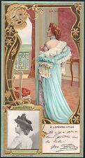 Chromo. Lefèvre-Utile. Marcelle Lender. La Veine. Circa 1900. chanteuse actrice