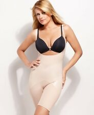 SALE! NWOT Spanx Firm Luxe Open Bust Mid-Thigh Shaper 2181 Nude Sz Small