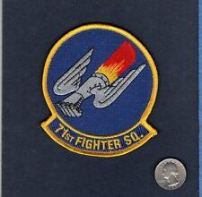 71st FS USAF F-15 EAGLE Fighter Squadron Jacket Patch + V