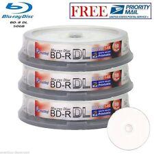 30 Pack SmartBuy Blu-ray BD-R DL Dual Layer 6X 50GB Inkjet Printable Record Disc