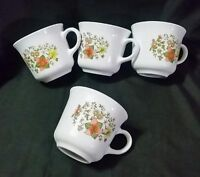 "Lot of 4 CORELLE BY CORNING ""INDIAN SUMMER"" Tea Coffee Mugs VGUC"