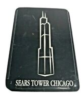 Vintage Sears Tower Chicago Playing Cards Open Case Unused Complete Set