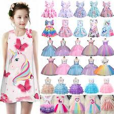 Toddler Kid Girl Unicorn Princess Dress Party Wedding Bridesmaid Costume Clothes
