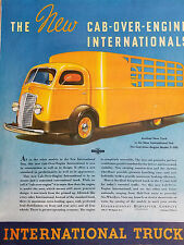 1937 Yellow International Trucks Truck Cab Over Engine Model D 300 Color Ad