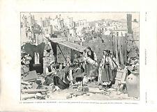 Insurrection en Macédoine insurgés macédoniens ruines de Krouchevo GRAVURE 1903