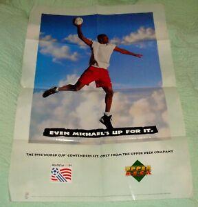 1994 Michael Jordan World Cup ⚽ Upper Deck Poster